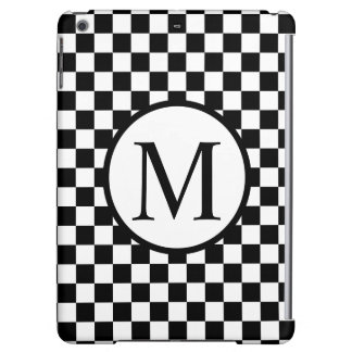Simple Monogram with Black Checkerboard