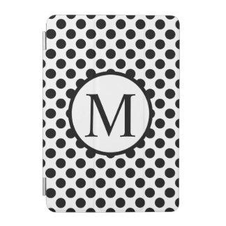 Simple Monogram with Black Polka Dots iPad Mini Cover