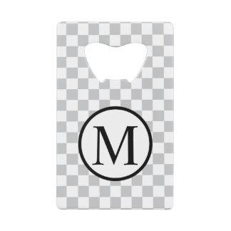 Simple Monogram with Grey Checkerboard