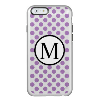 Simple Monogram with Lavender Polka Dots Incipio Feather® Shine iPhone 6 Case