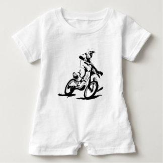 Simple Motorcross Bike and Rider Baby Bodysuit