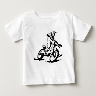Simple Motorcross Bike and Rider Baby T-Shirt