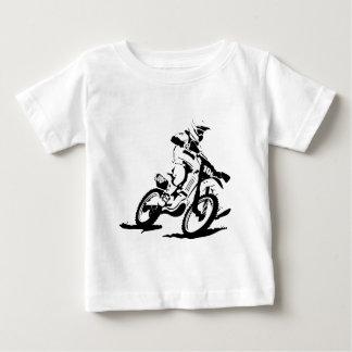 Simple Motorcross Bike and Rider Baby T-Shirt