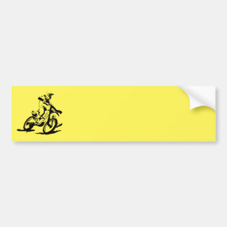 Simple Motorcross Bike and Rider Bumper Sticker