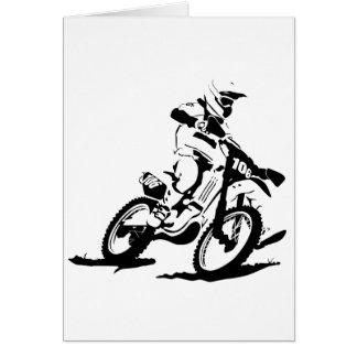 Simple Motorcross Bike and Rider Card