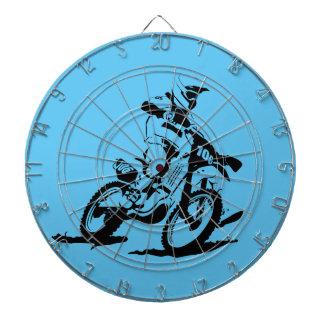Simple Motorcross Bike and Rider Dartboard