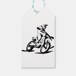 Simple Motorcross Bike and Rider Gift Tags