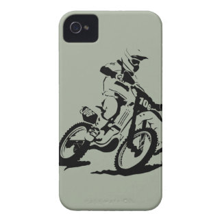 Simple Motorcross Bike and Rider iPhone 4 Case