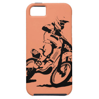 Simple Motorcross Bike and Rider iPhone 5 Covers