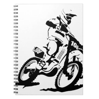 Simple Motorcross Bike and Rider Notebook