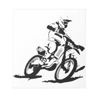 Simple Motorcross Bike and Rider Notepad