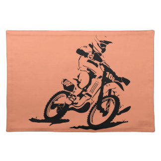 Simple Motorcross Bike and Rider Placemat