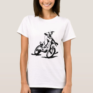 Simple Motorcross Bike and Rider T-Shirt