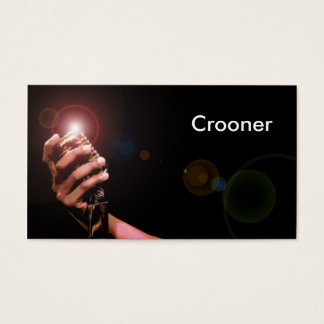 Simple Musician Business Card: Crooner Business Card