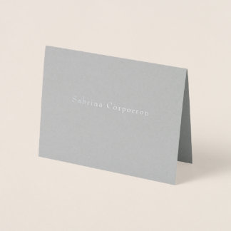 Simple Name Business Stationery Foil Card