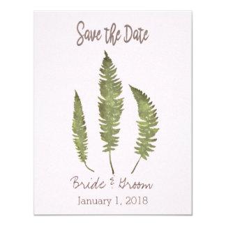 Simple Nature Save the Date 11 Cm X 14 Cm Invitation Card