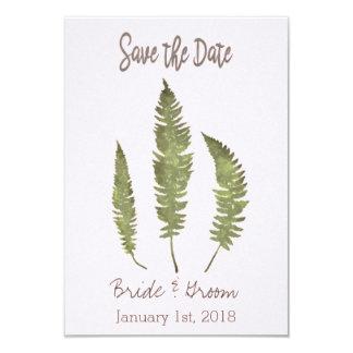 Simple Nature Save the Date 9 Cm X 13 Cm Invitation Card