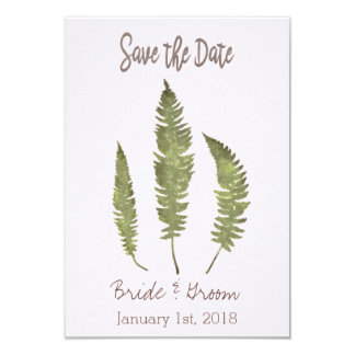 Simple Nature Save the Date Card