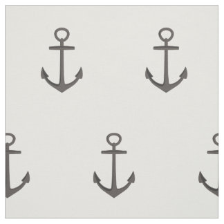 Simple Nautical Anchor Pattern Fabric