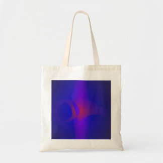 Simple Navy Abstract Painting Tote Bags