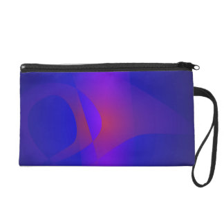 Simple Navy Abstract Painting Wristlet