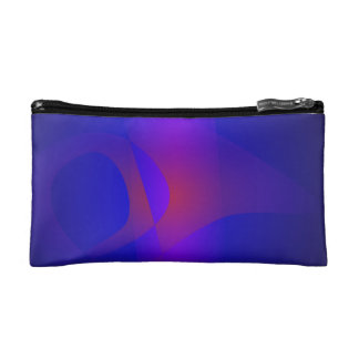 Simple Navy Abstract Painting Makeup Bags