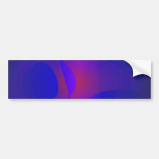Simple Navy Abstract Painting Bumper Sticker