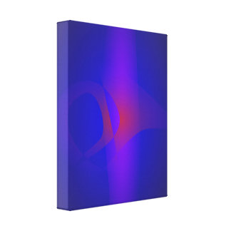Simple Navy Abstract Painting Canvas Print