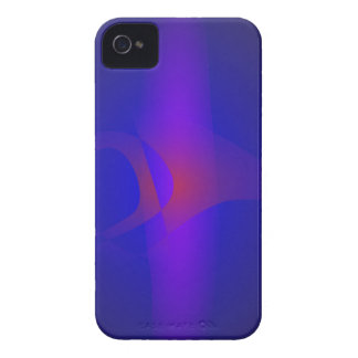 Simple Navy Abstract Painting iPhone 4 Case-Mate Cases