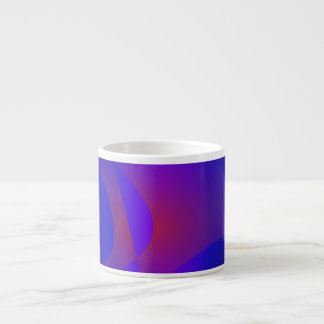 Simple Navy Abstract Painting Espresso Cups