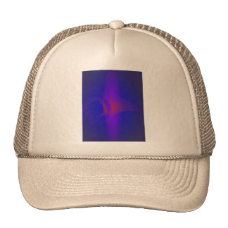 Simple Navy Abstract Painting Trucker Hats