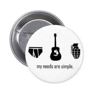 Simple Needs 6 Cm Round Badge