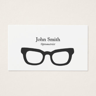Simple Nerdy Glasses Optometrist Business Card