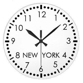 Simple New York Newsroom Large Clock