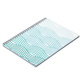 Simple notebook sea waves