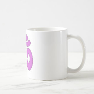 simple om,aum,sanskrit, mantra, yoga, tantra coffee mug