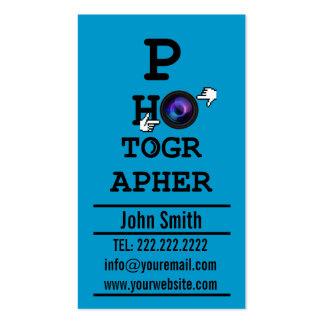 Simple Optometrist photographer Blue business card