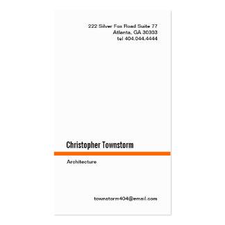 Simple Orange Line Vertical Business Card