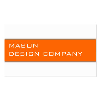Simple Orange & White Corporate Stylish Card Pack Of Standard Business Cards
