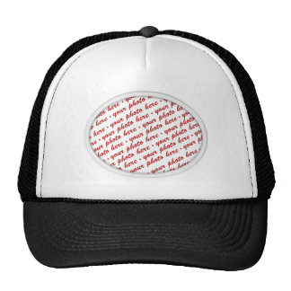 Simple Oval Photo Frame Trucker Hat