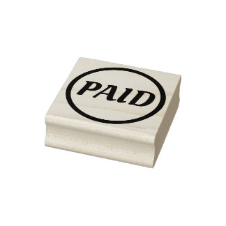 """Simple """"PAID"""" Rubber Stamp"""