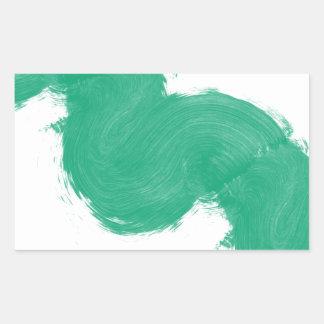 Simple Paintbrush Swirl Rectangular Stickers