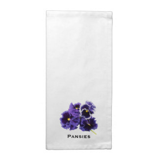 Simple Pansy Napkin with Text