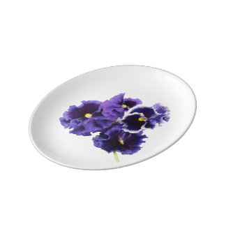 Simple Pansy Plate