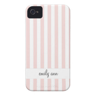 Simple Pastel Rose Stripes Pattern iPhone 4 Cases