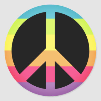 Simple Peace Symbol Round Sticker