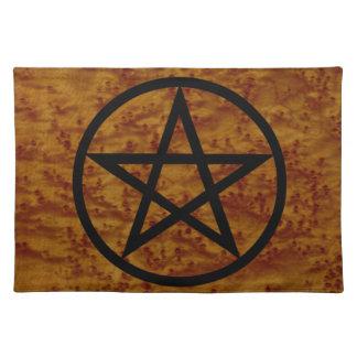 Simple Pentangle Spiritual Sacred Space Altar Mat