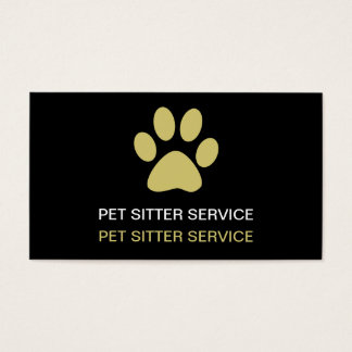 Simple Pet Care Business Cards