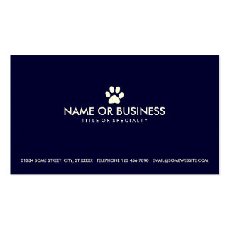 simple pet paw business cards