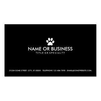 simple pet paw pack of standard business cards